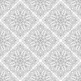 Fundo de mandala ornamental de luxo