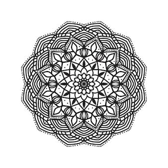 Fundo de mandala para colorir facilmente editável e redimensionável