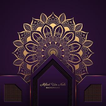 Fundo de mandala real para o festival islâmico