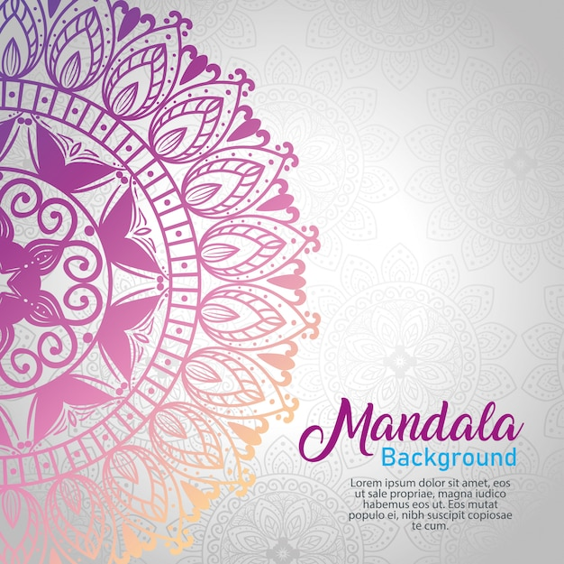 Fundo de mandala roxa de luxo, mandala roxa elegante e decorativa, ornamental