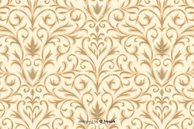 Fundo de mão desenhada em estilo damasco