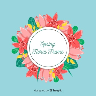 Fundo de mão desenhada floral primavera