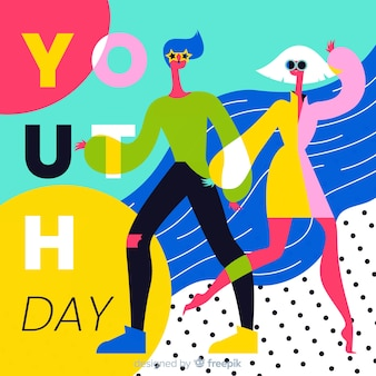 Fundo de mão desenhada juventude dia