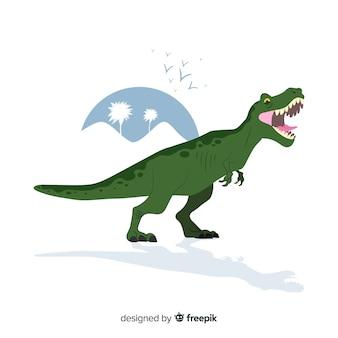 Fundo de mão desenhada t-rex