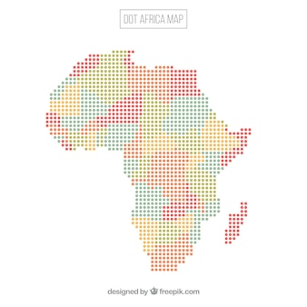 Fundo de mapa de áfrica com pontos