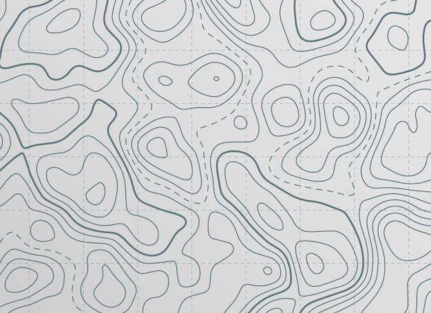 Fundo de mapa de linha de contorno topográfico