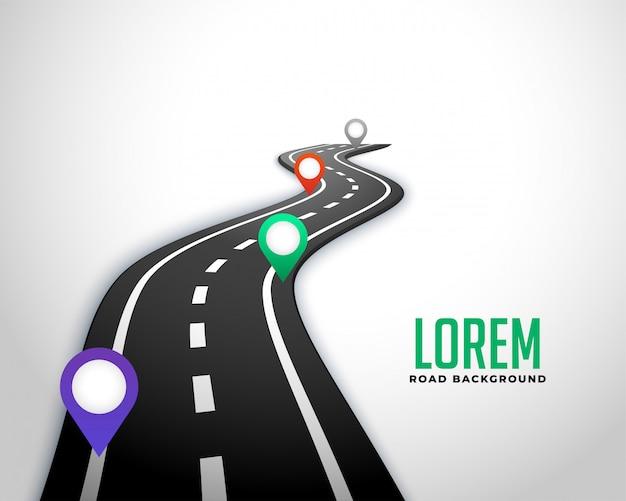 Fundo de mapa de marco de estrada de negócios