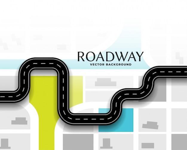 Fundo de mapa de rota de rota de viagem