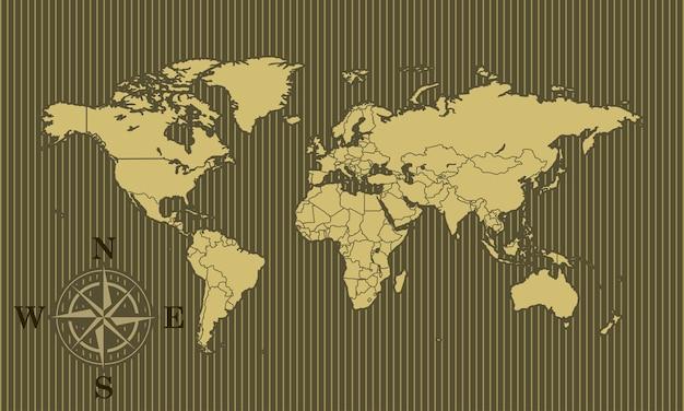 Fundo de mapa do mundo
