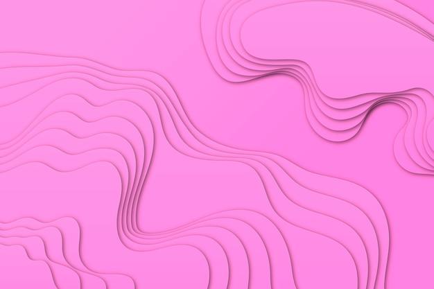 Fundo de mapa topográfico rosa minimalista