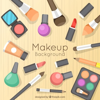 Fundo de maquiagem criativa