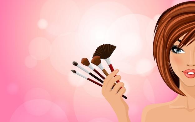 Fundo de maquiagem