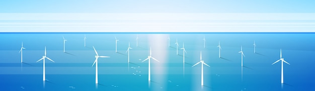 Fundo de mar de estação de água renovável de energia de turbina de vento