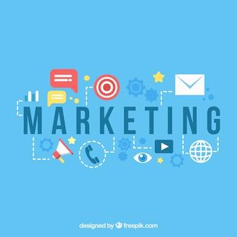 Fundo de marketing em estilo simples