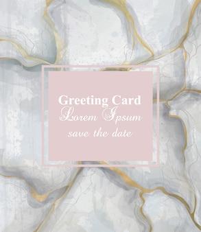Fundo de mármore cinza dourado cartão