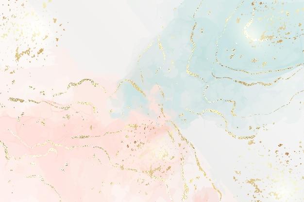 Fundo de mármore com listras texturizadas de folha de ouro e pó de purpurina