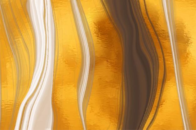 Fundo de mármore líquido com textura de brilho dourado