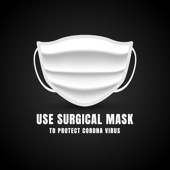 Fundo de máscara de proteção