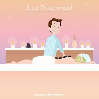 Fundo de massagem relaxante