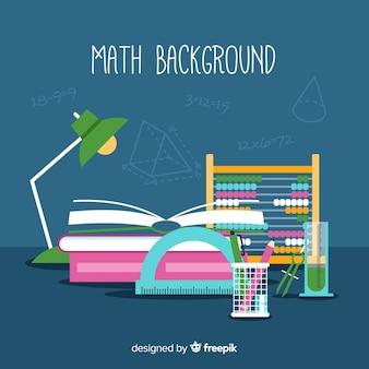 Fundo de matemática dos desenhos animados