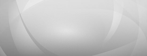 Fundo de meio-tom abstrato de pequenos pontos e linhas onduladas nas cores cinza e branco