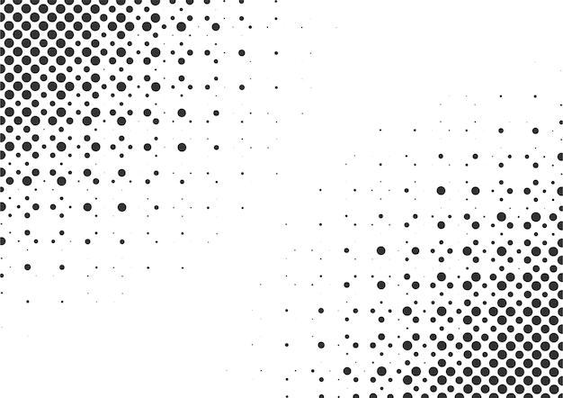 Fundo de meio-tom abstrato de pontos preto e branco, design de fundo de meio-tom