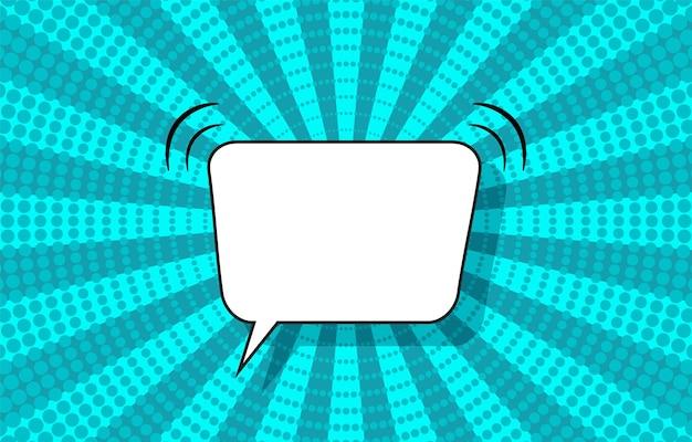 Fundo de meio-tom da pop art. padrão de explosão estelar em quadrinhos com bolha do discurso. banner com pontos, vigas