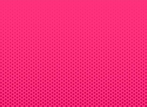 Fundo de meio-tom da pop art. rosa em quadrinhos