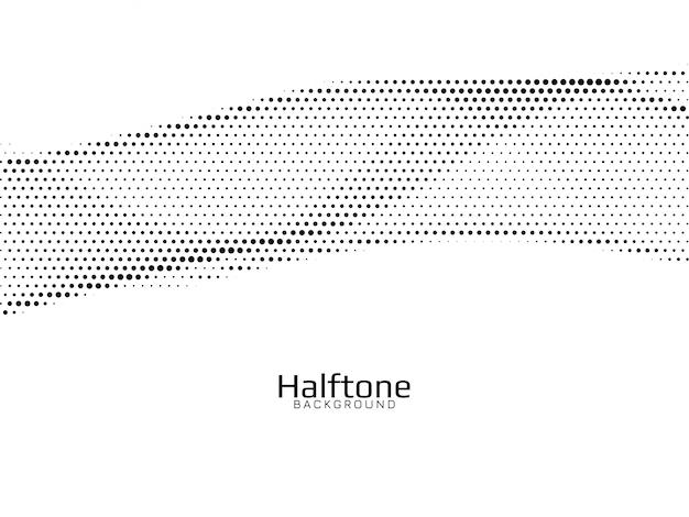 Fundo de meio-tom de estilo abstrato de onda