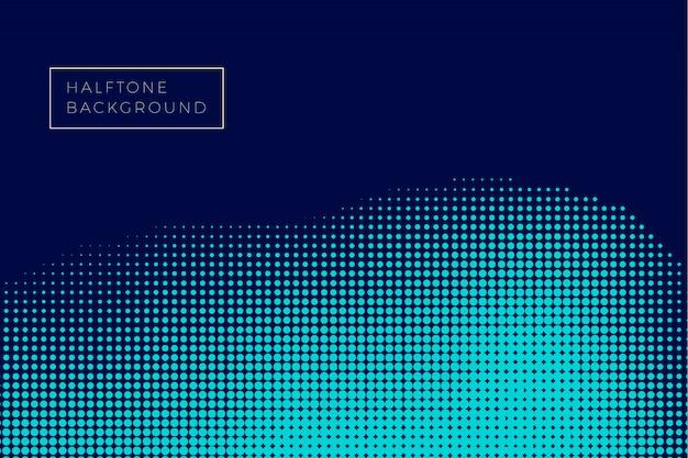 Fundo de meio-tom de onda azul