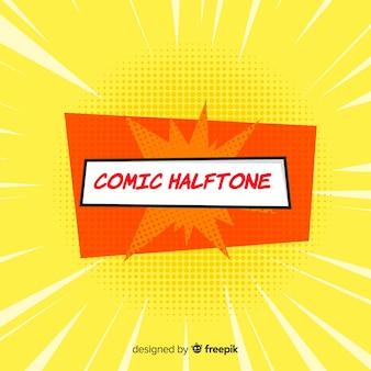 Fundo de meio-tom em quadrinhos