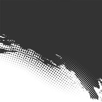 Fundo de meio-tom grunge em preto e branco