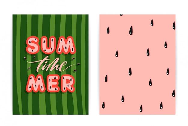 Fundo de melancia de verão