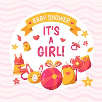 Fundo de menina bebê chuveiro