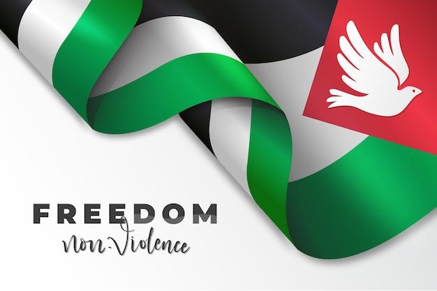 Fundo de mensagem de liberdade realista