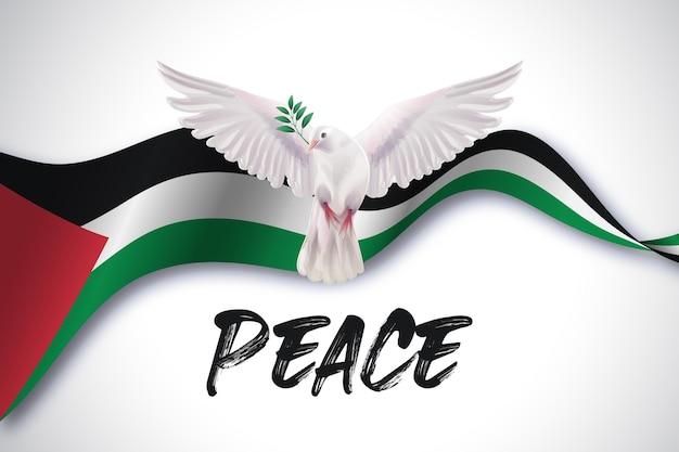 Fundo de mensagem de paz realista