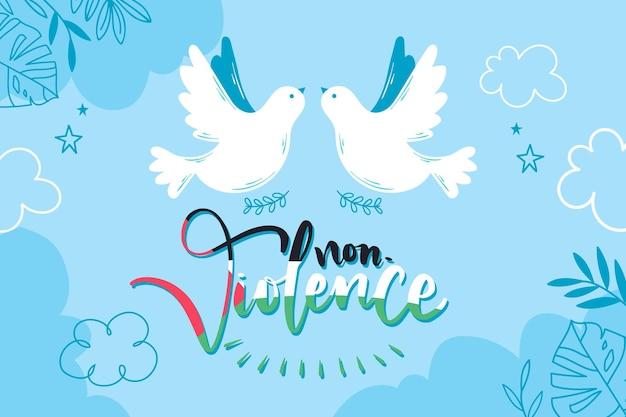 Fundo de mensagem não violenta
