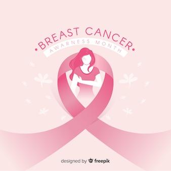Fundo de mês de conscientização de câncer de mama