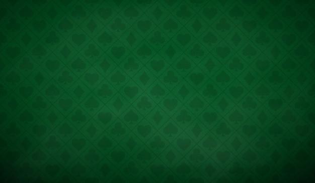 Fundo de mesa de pôquer na cor verde