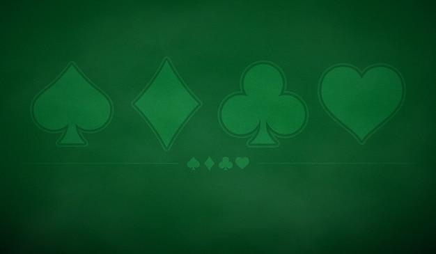 Fundo de mesa de pôquer na cor verde.