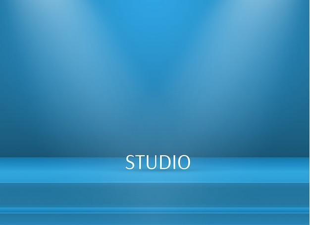 Fundo de mesa vazio studio cor brilhante Vetor Premium
