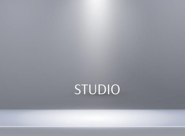 Fundo de mesa vazio studio cor brilhante
