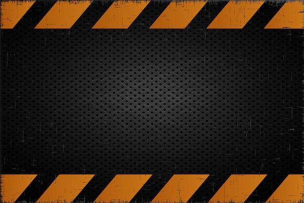 Fundo de metal alerta fundo industrial de acidente