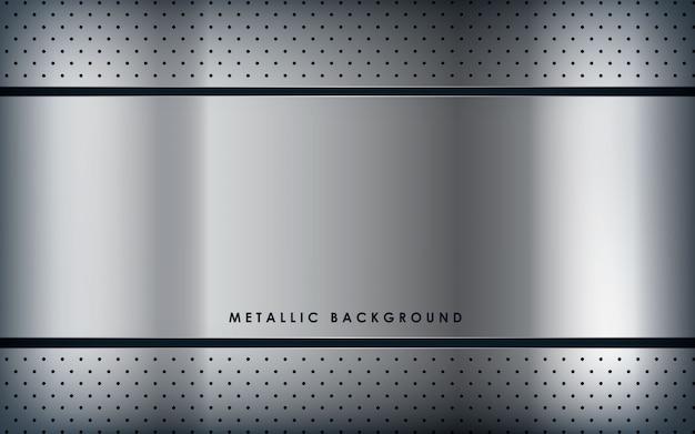 Fundo de metal branco de textura