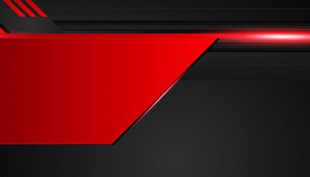 Fundo de metal preto e vermelho