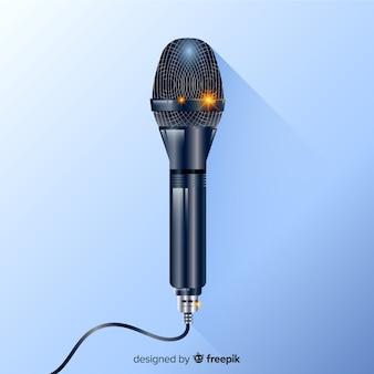 Fundo de microfone moderno realista