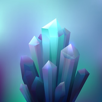 Fundo de minerais de cristal