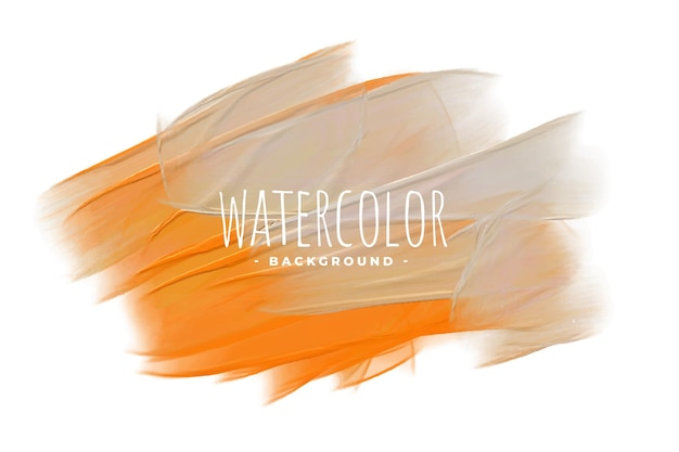 Fundo de mistura de textura aquarela cinza e laranja