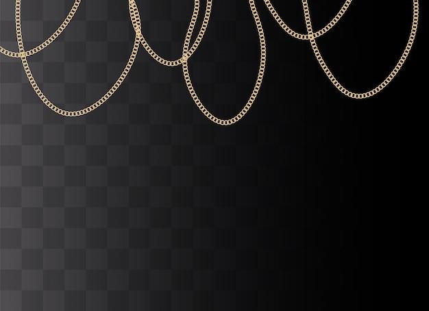 Fundo de moda com correntes de ouro