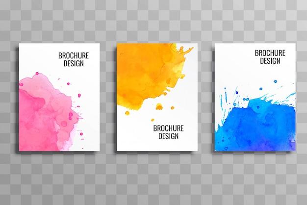 Fundo de modelo colorido de brochura negócios abstratos